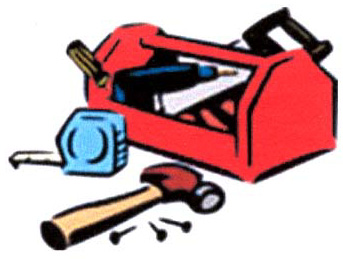 Red tool box icon